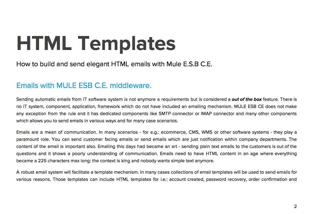 How To Build And Send Elegant HTML Emails With Mule ESB CE Pdf - Build html email template